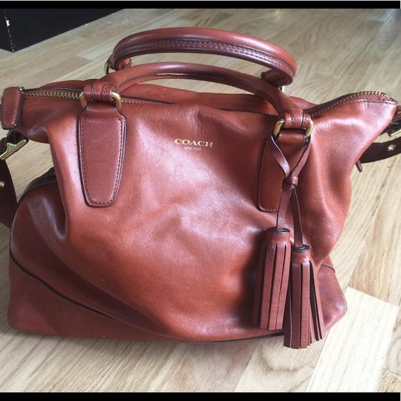 e5c5f2264a Coach Handbags - Coach Legacy Rory Cognac Leather Satchel